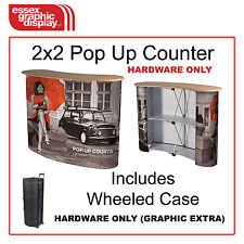 QUALITY LIGHT EXHIBITION POP UP PODIUM COUNTER COUNTA Hardware Only graphic £60