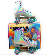 Impala Roller Skates Holographic Women's Sz 10 Brand New (same day shipping!)