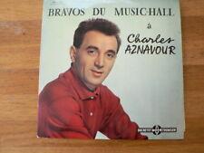 LP RECORD 10 INCH CHARLES AZNAVOUR BRAVOS DU MUSIC-HALL DUCRETET THOMSON 260V090