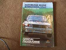 1984 Rothmans Manx International Rally Official Programme