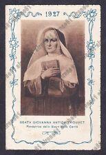 CALENDARIETTO 1927 SEMESTRINO - BEATA GIOVANNA ANTIDA THOURET - LONGONE MILANO