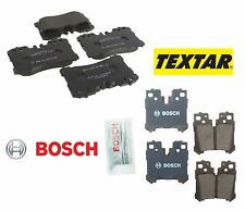 For Lexus LS460 2014 Base 4.6L RWD Front Textar & Rear Bosch QuietCast Brake Pad