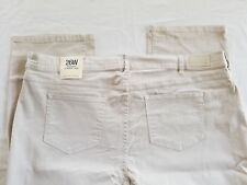"""Lands End Womens Plus Size 26 High Rise Straight Leg Jeans Inseam 30"""" Color Flax"""