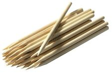 """CARAMEL CANDY APPLE / CORN DOG STICKS 25ct - Pointed Wood Skewers Dowels 8""""x1/4"""""""