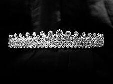Full Crystal Sparking Glitz Wedding Bridal Crown for Veil Crystal Diamante Tiara