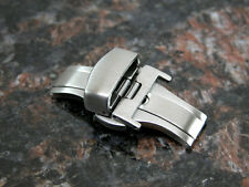 18MM Deployment Buckle Double Clasp BRUSHED Stainless Steel