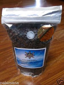 1lb 100% Kona Coffee Whole Bean Extra Fancy NOT Dark Roast FRESH SIMPLY THE BEST