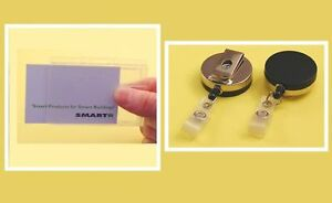 Security Pass, ID card, Access Badge Holder kit with choice of badge reel