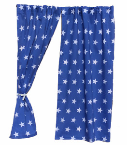 BOYS PLAYHOUSE CURTAINS ~ BLUE STARS ~ BOYS DEN CURTAINS & ACCESSORIES