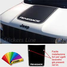 Adesivo cofano Jeep SCRITTA Renegade con fori lavavetri sticker for jeep bonnet