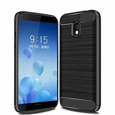 For Samsung Galaxy J3 2018 Carbon Fibre Gel Case Cover Shockproof & Stylus Pen