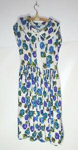 Vintage Kleid DDR Handmade Vintage 1960er Fasion Sommerkleid Blumen