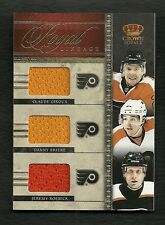 2011-12 Panini Crown Royale Lineage Triple Jersey GIROUX Briere ROENICK Flyers
