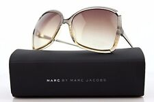 RARE Genuine MARC BY MARC JACOBS Grey Beige Gold Square Sunglasses MMJ 217/S YQP