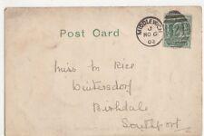 Miss M. Rice, Wintersdorf, Birkdale, Southport 1902 Postcard, B277