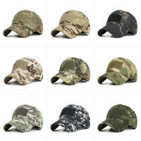 Camo Baseball Cap Army Camouflage Hats Military Hunting Outdoor Hat Unisex New