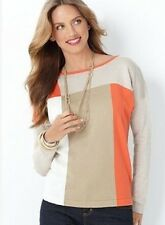 Charter Club Sweater, Long Sleeve Colorblocked Boatneck