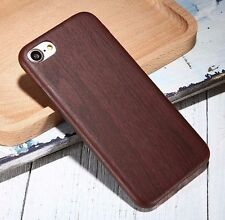 For iPhone 7 & 7+ PLUS - Ultra Thin Hard TPU Rubber Wood Grain Case Cover Skin