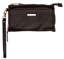 Tag Billabong Vera Womens Girl Zip Wallet Clutch Purse off Black Soft
