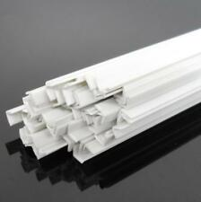 US Stock 20pcs 4 x 4 x 250mm ABS Styrene Plastic L Shape Right Angle Bars White