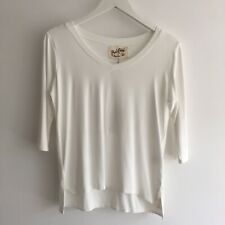 A Postcard From Brighton V Neck Tee, Ivory, Size 1, BNWT, RRP £45