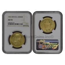 Brazil 1852 20000 Reis Gold NGC AU55 SKU#6700