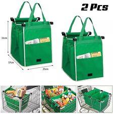 2PC bolsas de agarre para carro carrito de la compra Clip en bolsas reutilizables de Eco par-UK