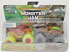 Monster Mutt & Earth Shaker (2020) Zombie vs Hunter Monster Jam 1:64 Trucks New