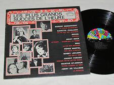 LES PLUS GRANDS SUCCES DE L'HEURE LP Quebec PAGLIARO RENEE MARTEL JENNY ROCK+