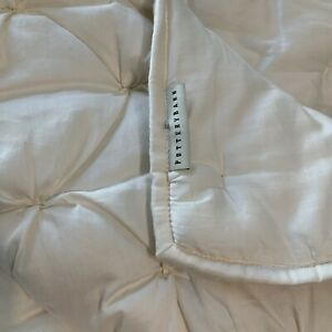 Pottery Barn Quilt Full/Queen Natural Soft Cotton Tufted Comforter 88 X 92