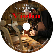 85 Vintage Books on DVD Violin Viola Making Varnish Restoration History Restore