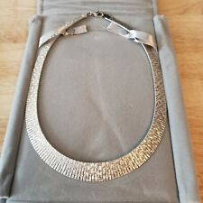 """Sterling silver necklace Collar style, 34g, 18"""" long. Egyptian inspired. NEW!"""