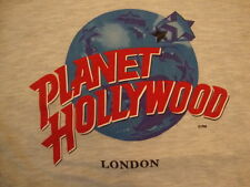 Planet Hollywood Logo Casino London England Souvenir Gray Cotton T Shirt Size L