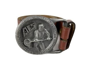 AFS Buckle America Foundry Society Southern California Chapter Belt Buckle