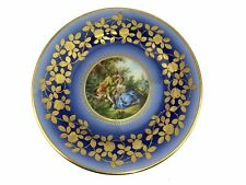 Royal Vienna Cabinet Plate COURTING COUPLE BLUE underglaze hallmark