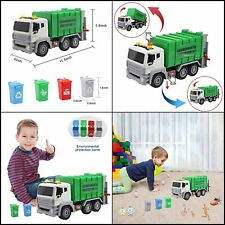 Garbage Truck Toy Friction-Powered Waste Management Recycling Truck Toy