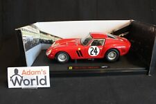 Hot Wheels Elite Ferrari 250 GTO 1963 1:18 #24 Blaton / v. Ophem 24h LM (PJBB)