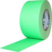 "Pro Gaff Fluorescent Green Gaffers Tape 3"" x 50 yard Roll (Pack of 16)"