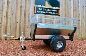 Galvanised ATV tipping trailer 500kg load capacity