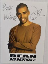 DEAN O'LOUGHLIN (Big Brother). Genuine Autographed Photograph. 6 x 4. COA.