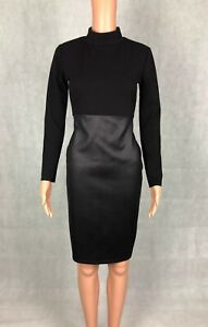 I-X London Wet Look Skirt Long Sleeve Bodycon Evening Cocktail Party Dress - 10