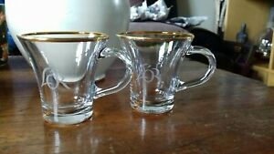 L'or espresso cups gold rimmed