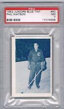 1952-53 Juniors Blue Tint Hockey Card Quebec Citadels Phil Watson Graded PSA 7