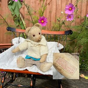 """Dobby     c1930's Loved Chad Valley Teddy - Old Loved 13.5"""" Antique English Bear"""