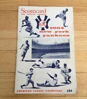New York Yankees Official 1964 Scorecard & Souvenir Program Magazine