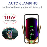 Automatic Clamp Qi Wireless Car Fast Charger Phone Holder Mount Infrared Sensor