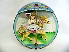 1995 Bradford Exchange Carousel Daydreams Flight Of Fancy Musical Motion Plate
