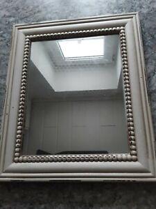 Spiegel Wandspiegel Flur Retro Vintage Holz, 27x 32 cm, NEU