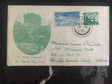 1951 Ireland First Day Cover FDC St Patrick's Day To Santa Monica Usa