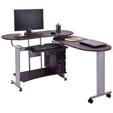 L-Shaped Computer Desk Expandable PC Laptop Desk Corner Workstation Home Office